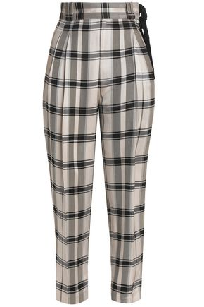3.1 PHILLIP LIM Cropped checked jacquard tapered pants