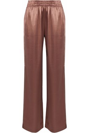 J BRAND Modal and silk-blend satin wide-leg pants