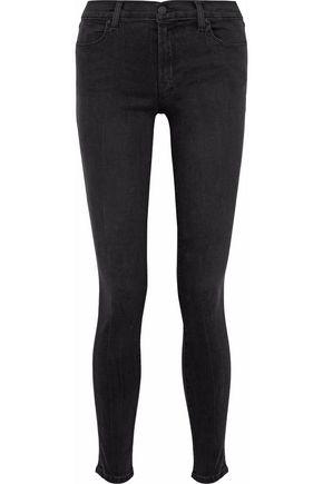 J BRAND 620 faded low-rise skinny jeans