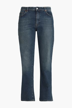 ACNE STUDIOS Faded mid-rise slim-leg jeans