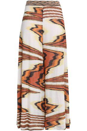 MISSONI Printed cotton-blend wide-leg pants