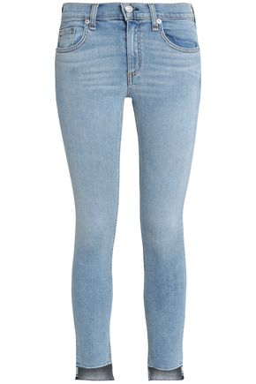 RAG & BONE/JEAN Cropped mid-rise skinny jeans