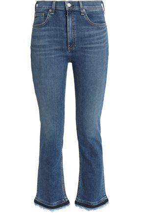 RAG & BONE/JEAN Faded mid-rise kick-flare jeans