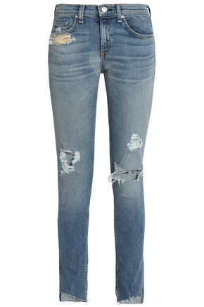 RAG & BONE/JEAN Cropped high-rise skinny jeans
