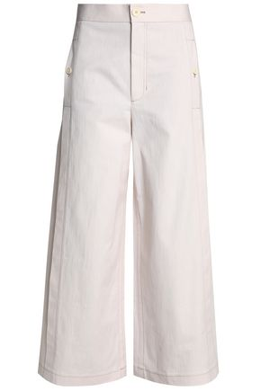 HELMUT LANG Cotton-blend twill culottes
