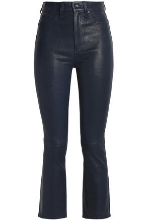 RAG & BONE Cropped leather skinny pants