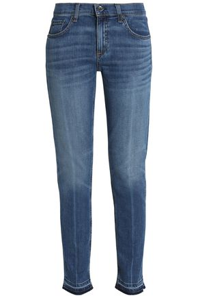 RAG & BONE/JEAN Faded mid-rise slim-leg jeans