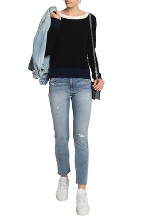 RAG & BONE Distressed mid-rise slim-leg jeans