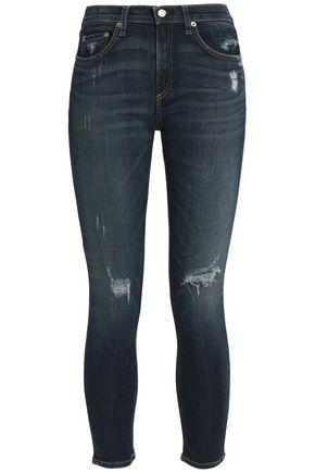 RAG & BONE/JEAN Cropped high-rise skinny jeans