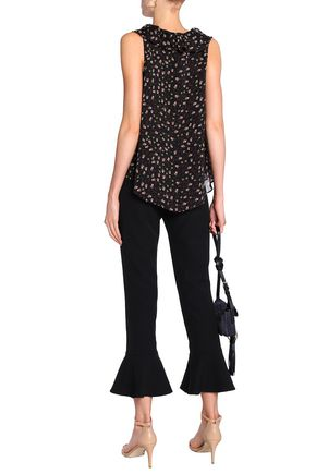 REBECCA MINKOFF Ruffled crepe flared pants