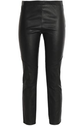 ROBERTO CAVALLI Leather slim-leg pants