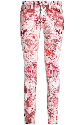 9d8c1606817db Printed mid-rise slim-leg jeans | ROBERTO CAVALLI | Sale up to 70 ...