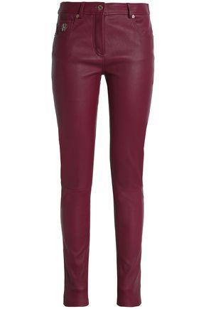 ROBERTO CAVALLI Appliquéd leather skinny pants