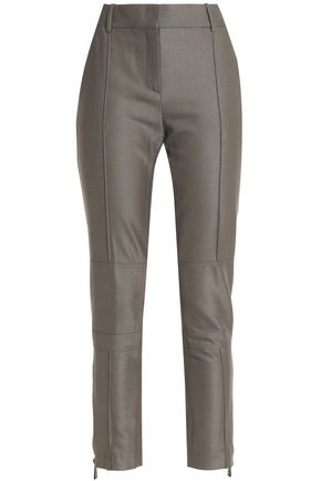 BELSTAFF Tapered wool-blend trousers