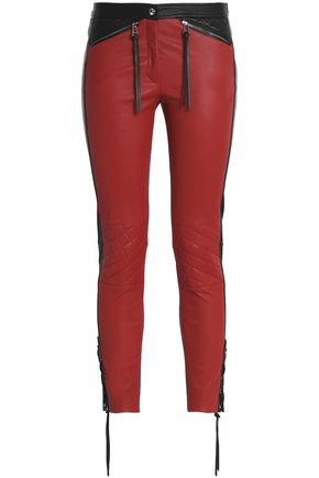 BELSTAFF Mid-rise skinny leather pants