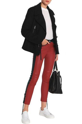 BELSTAFF Mid-rise skinny leather pants