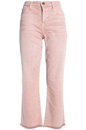 CURRENT/ELLIOTT Frayed high-rise kick-flare jeans