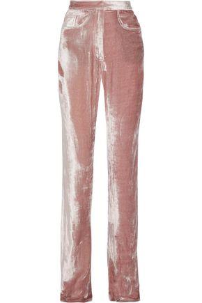 JUAN CARLOS OBANDO Velvet straight-leg pants