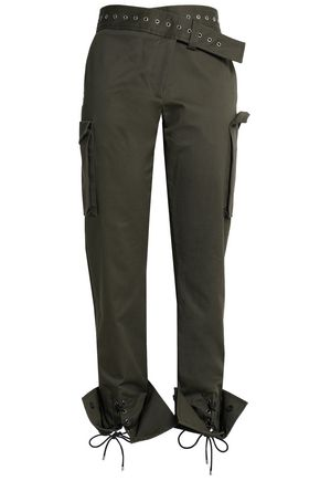 MONSE Cotton-blend gabardine straight-leg pants
