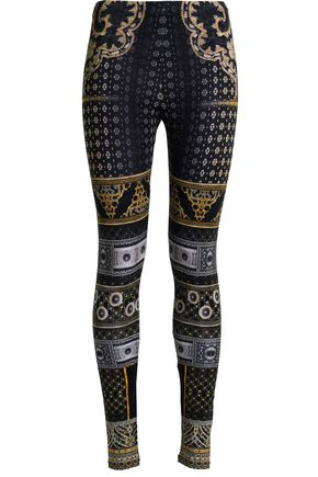 CAMILLA Crystal-embellished printed stretch-modal leggings