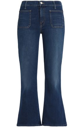 MOTHER Cropped high-rise kick flare jeans
