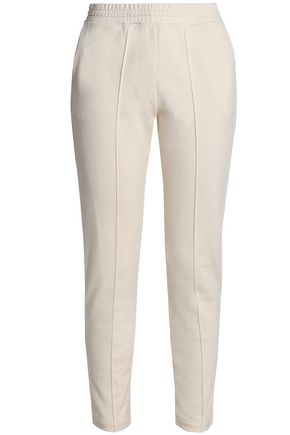 T by ALEXANDER WANG Mélange cotton-jersey track pants