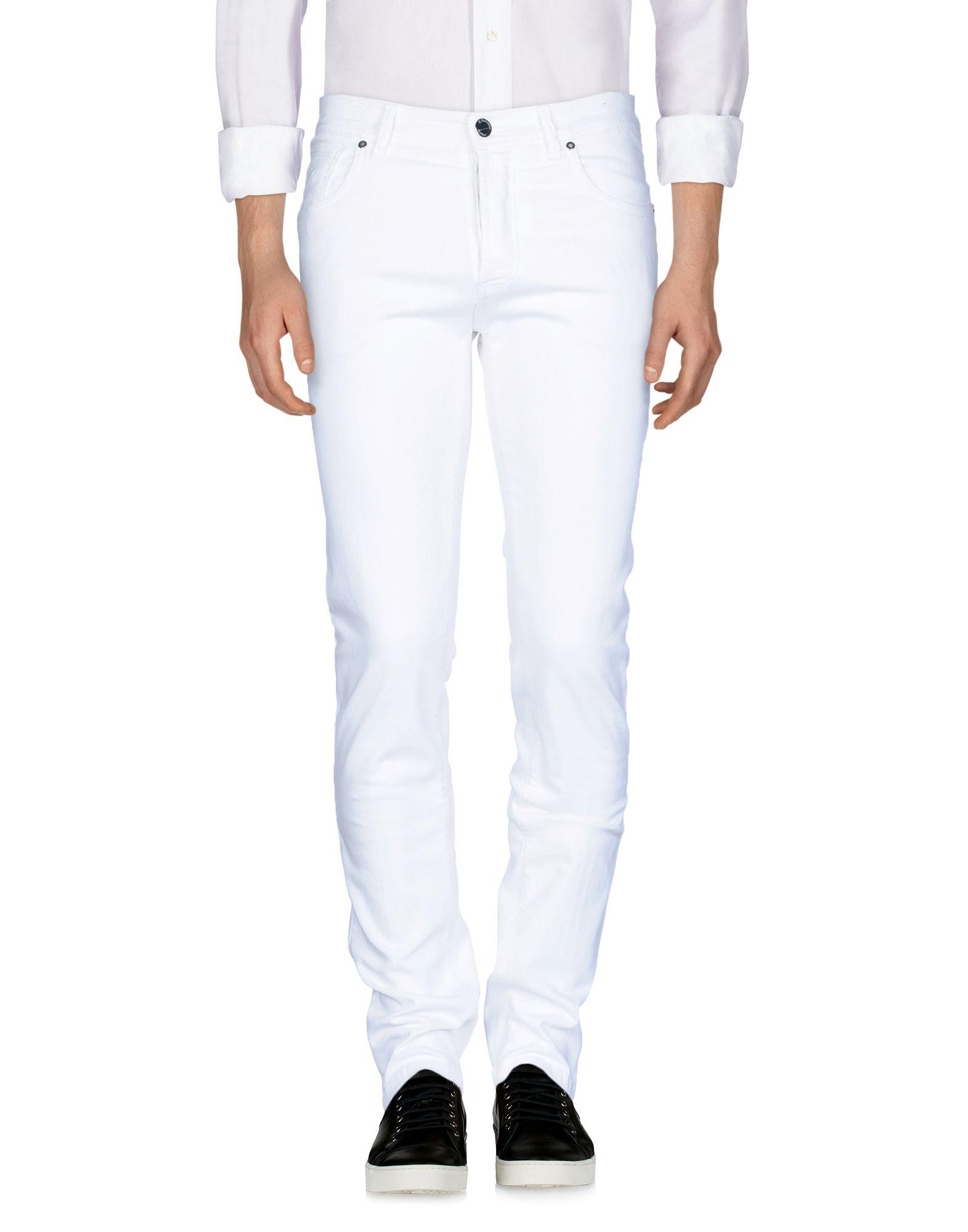 《セール開催中》E.MARINELLA メンズ ジーンズ ホワイト 37 98% コットン 2% ポリウレタン
