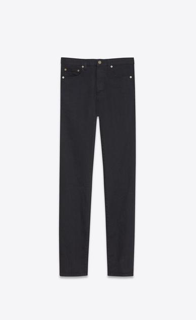 slim-jeans aus abgenutztem, schwarzem denimstretch