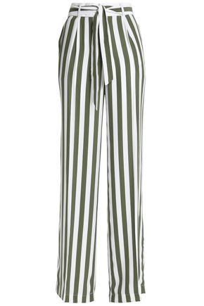 EQUIPMENT Striped washed-silk wide-leg pants