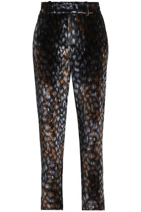 EQUIPMENT Printed chenille tapered pants