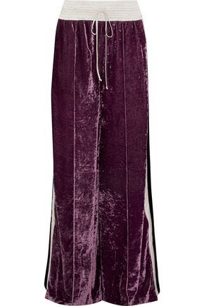 OFF-WHITE™ Velvet wide-leg pants