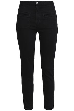 EQUIPMENT Cropped high-rise skinny jeans