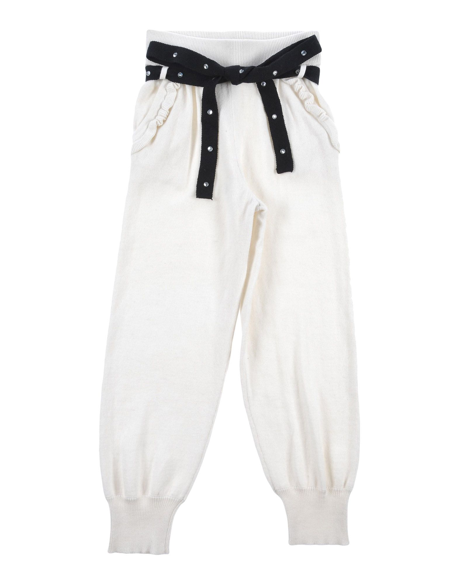 MONNALISA CHIC Casual Pants in White