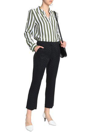 EQUIPMENT Printed washed-silk slim-leg pants