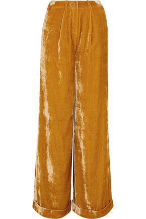 MUGLER Velvet wide-leg pants