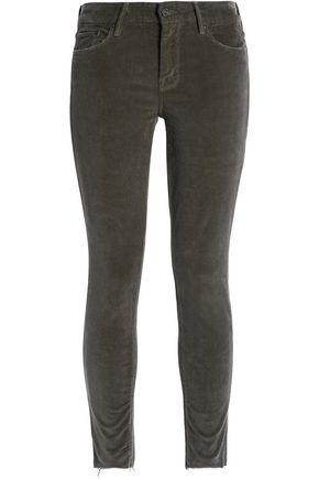 MOTHER Cropped velvet wide-leg pants