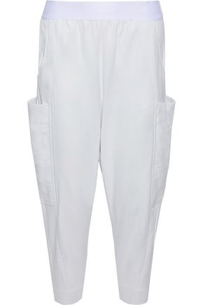 Y-3 + adidas Cocoon cropped cotton-jersey track pants