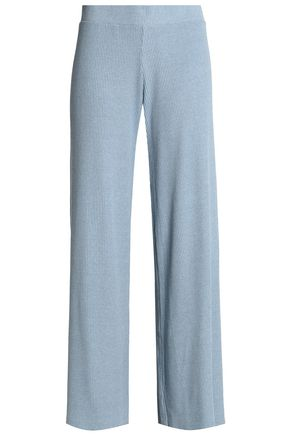ENZA COSTA Ribbed-knit flared pants