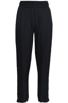 ENZA COSTA Satin tapered pants