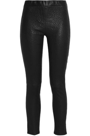 J BRAND Embossed leather skinny pants