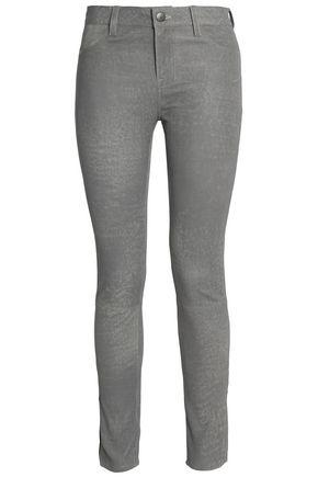 J BRAND Coated leather skinny pants