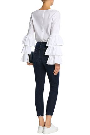 J BRAND Cropped high-rise skinny jeans