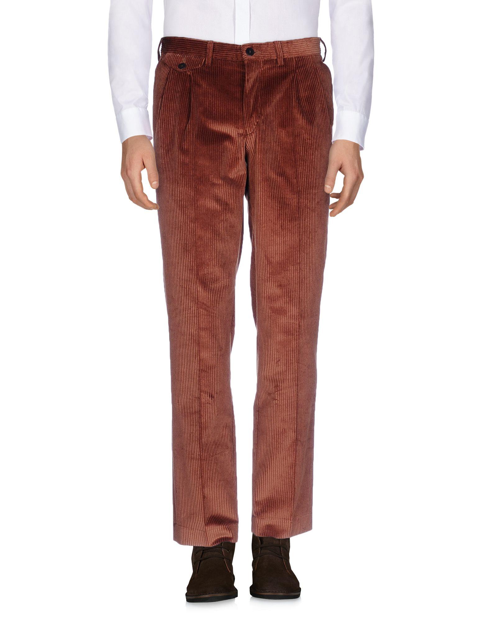 《期間限定セール中》LA PAZ メンズ パンツ ブラウン L 100% コットン