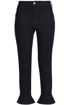 J BRAND Fluted cotton-blend skinny pants