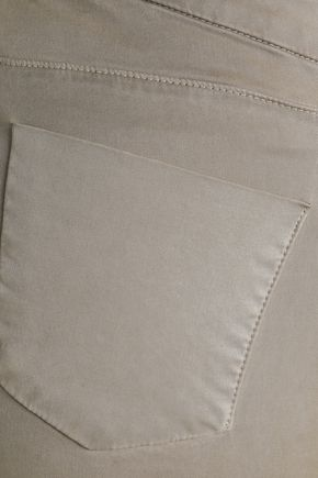 J BRAND Cropped washed-twill skinny pants