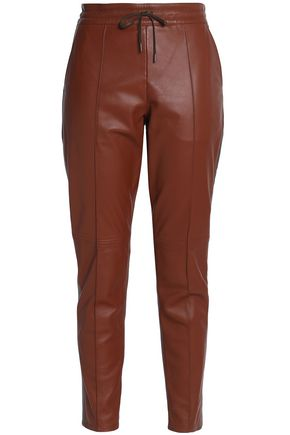 JOSEPH Leather tapered pants