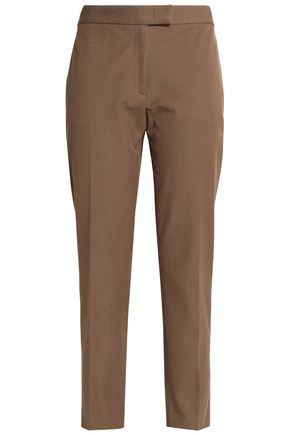 JOSEPH Cropped gabardine straight-leg pants