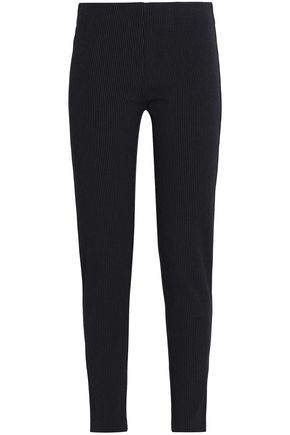 JOSEPH Pinstriped gabardine leggings
