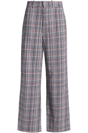 JOSEPH Checked cotton culottes