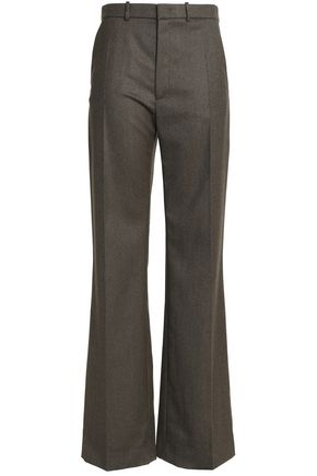 JOSEPH Wool-blend twill flared pants